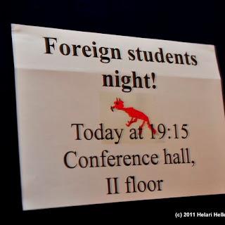 Rebasenädal 2011 Välisüliõpilaste õhtu