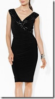 Lauren Ralph Lauren embellished wrap front dress