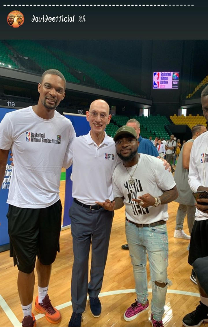 "Davido And Jidenna Meet With Tall NBA Players - ""See As I Short"" Davido Laments"