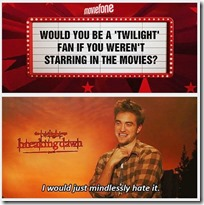 Twilight sucks - Robert Pattinson