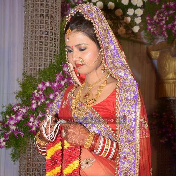 Ritu Jaiswal at her wedding in Nagpur.