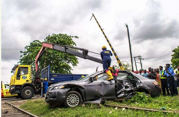 OMG! See Photos Of Toyota Camry Hit By A Train