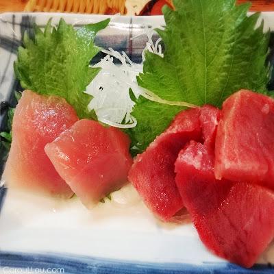 CarouLLou.com Carou LLou in Tokyo Japan Sashimi tuna +