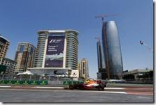 Max Verstappen nelle prove libere del gran premio dell'Azerbaigian