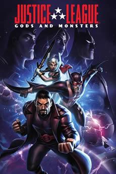 Capa Liga da Justiça: Deuses e Monstros (2015) Dublado Torrent
