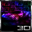 Colorful Luxury Cars 3D Next Launcher theme icon