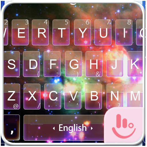 Neon Space Keyboard Theme