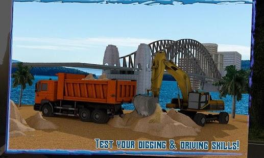Transport-Truck-3D-River-Sand 3