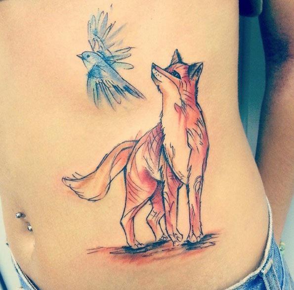 este_esboçou_fox_e_aves