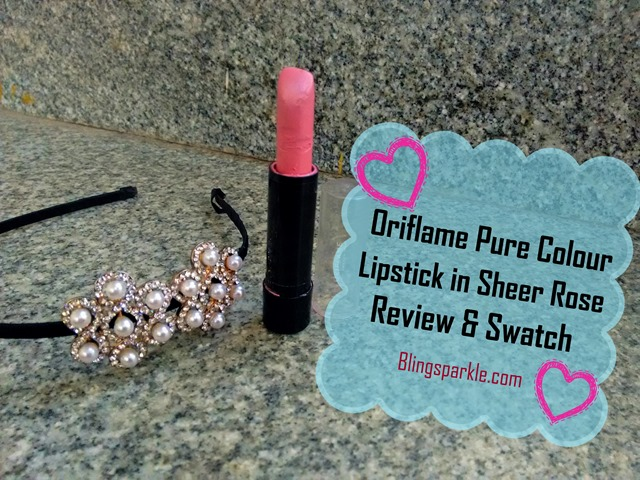 Oriflame  Lipstick   Review & Swatchh