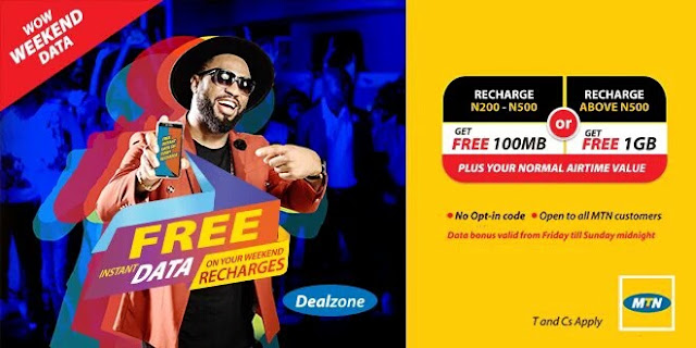 MTN Wow Weekend, Get Free 100MB and 1GB Data