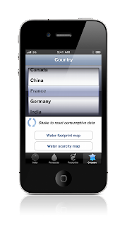 water footprint calculator for iPhone