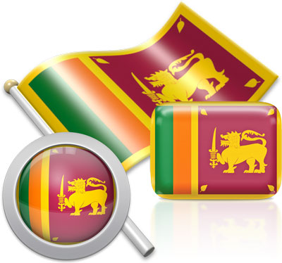 Sri Lankan flag icons pictures collection