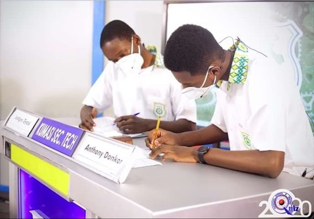 National Science & Math Quiz - End of Contest -(Kumasi Sec. Tech crowns winners)