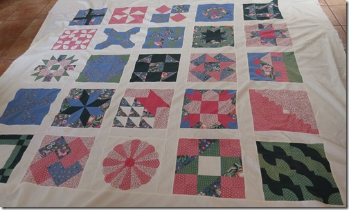 Joanne's quilt after spa