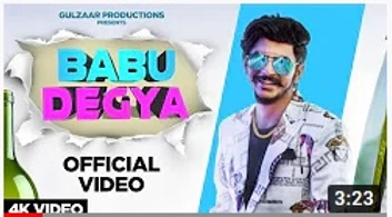 Gulbar Chhaniwala's song 'Babu De Gaya' trending on YouTube as soon as it is released