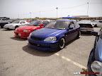 Blue Honda Civic EK with Rota wheels