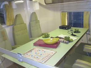 Photo: Interior living space of the Mobile Quarantine Facility