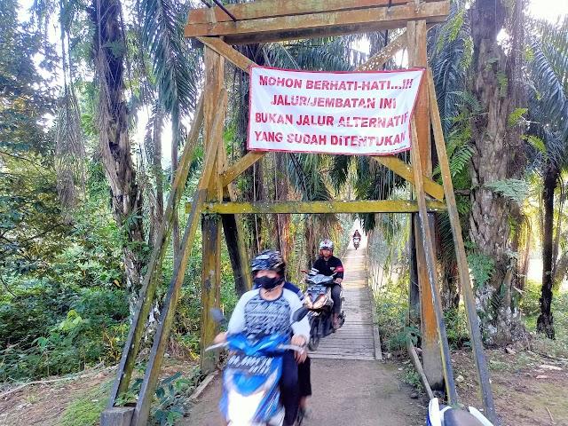 Khawatir Jalur Alternatif Jembatan Gantung di Tungkap, Legislator Balangan  Minta Ini..!