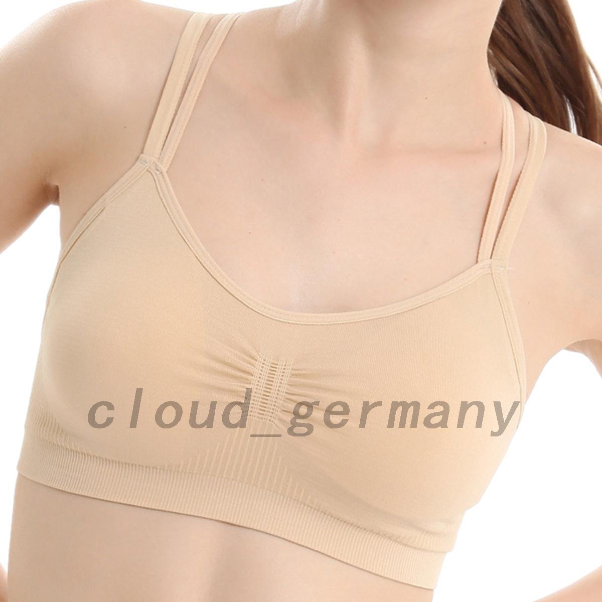 Soutien-Gorge-Sport-Push-Up-Bra-Lingerie-Brassiere-Sans-Armature-Yoga-Course