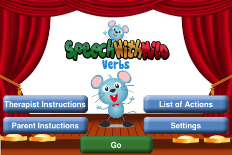 Speech With Milo Verbs Menu