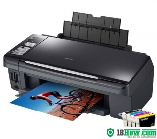 How to reset flashing lights for Epson DX7450 printer
