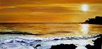 Coucher de soleil ( photo de D. Massé) 44 x 23 Février 2007