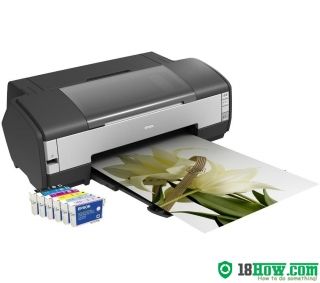 How to Reset Epson 1400 flashing lights error