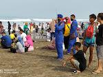 Satuan Pol Air Polres Ciamis Gelar Patroli Rutin Di Kawasan Pantai Pangandaran