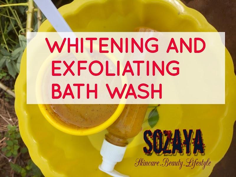 Making your whitening body wash
