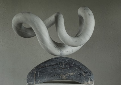 Yoha: CARRARA MARBLE, 2017: W 63cm, H 61 cm, D 38 cm; £12,800