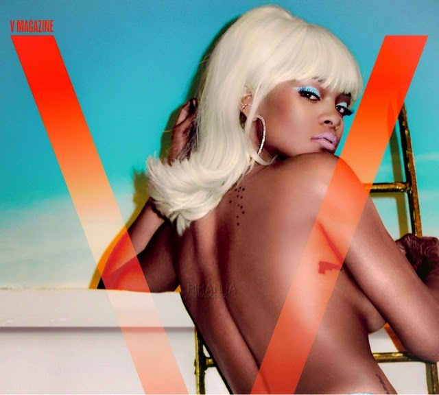 Rihanna for V Magazine in Versace