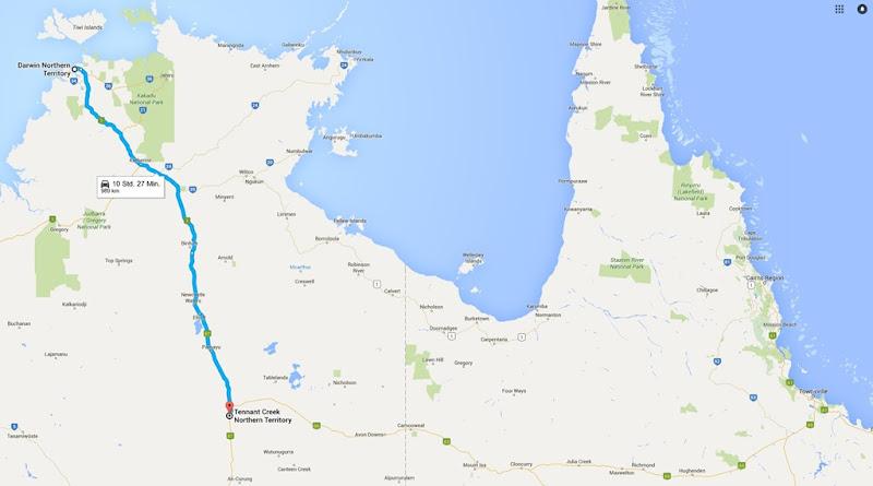 z35 von Darwin nach TEnnant Creek