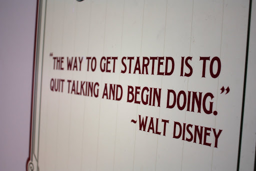 I love a good Walt Disney quote. It's pretty awesome that they post them around the parks on the walls around refurbishments.