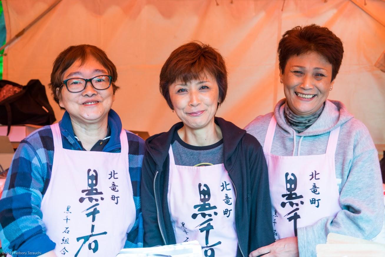 藤瀬美枝子さん(左)、菅原直子さん(中)、黒野留里子さん(右)