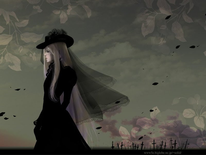 Black Lady On Cemetry, Gothic