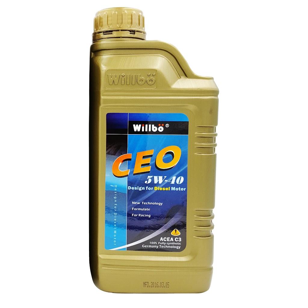 WILLBO CEO 5W40 C3<br/>柴油引擎專用全合成機油