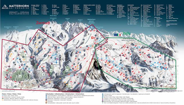 分區雪場圖