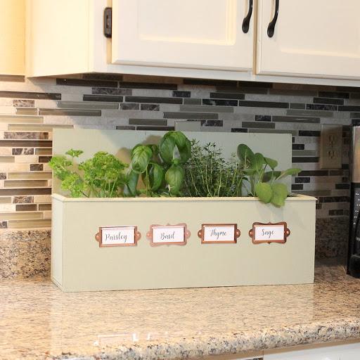 Charmant DIY Wooden Herb Garden Box Kitchen Counter Herb Garden