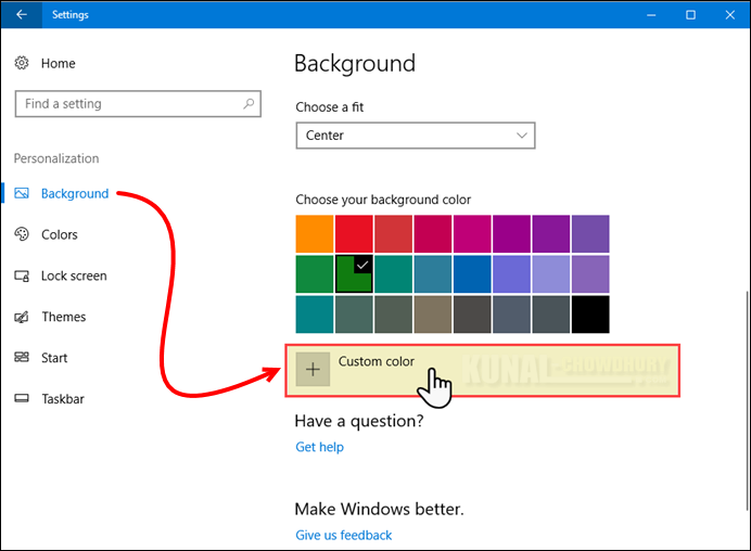How to set custom colors in Windows 10 Creators Update? (www.kunal-chowdhury.com)