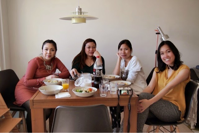 Noodle lunch with lovely friends at home