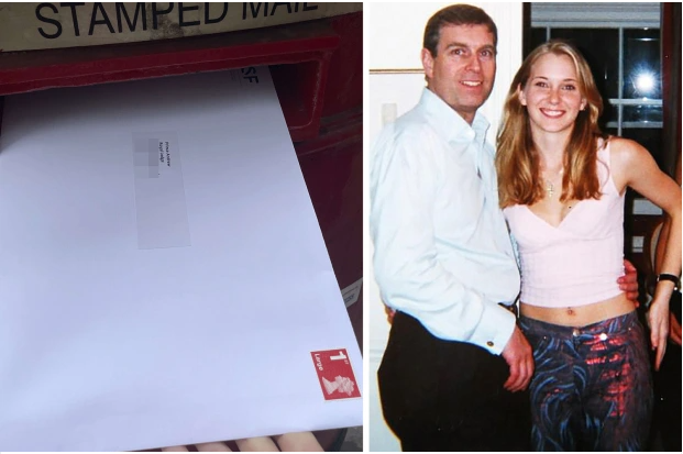 Virginia Roberts's lawyers release photo of sex abuse legal papers being posted to Prince Andrew