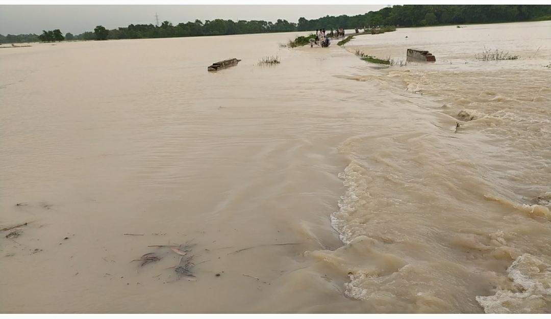 नेपाल में हो रही बारिश से बिहार पर बाढ़ का खतरा, दर्जनों गांवों में घुसा पानी