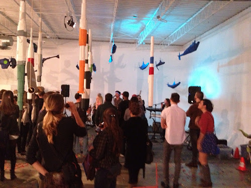 Photo Gallery: Cardboard Art Festival Closing Party with Andy Matchett & Dog Powered Robot