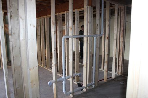 plumbing downstairs