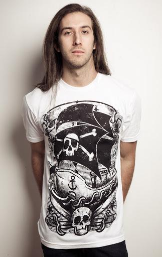 pirate shirt, pirate tee, tattoo ink, pirate ink, pirate tattoo shirt, pirate ship shirt, graphic print tshirt, black print, pirate