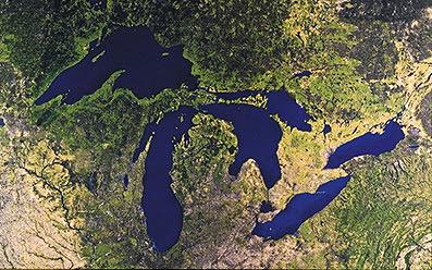 Северная Америка пять озер