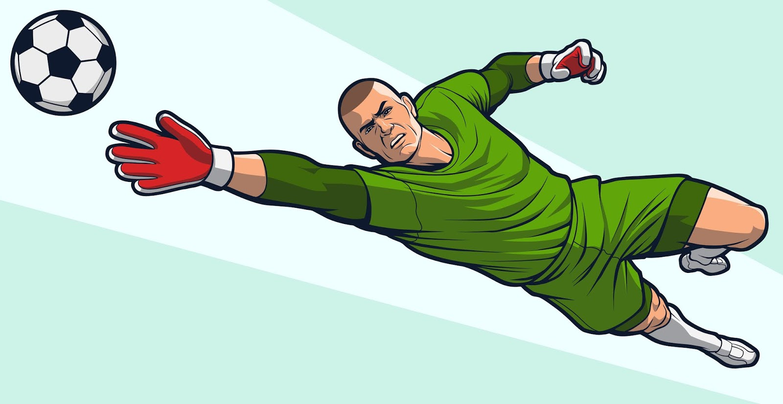 Goalkeeper Blocking Ball Free Download Vector CDR, AI, EPS and PNG Formats