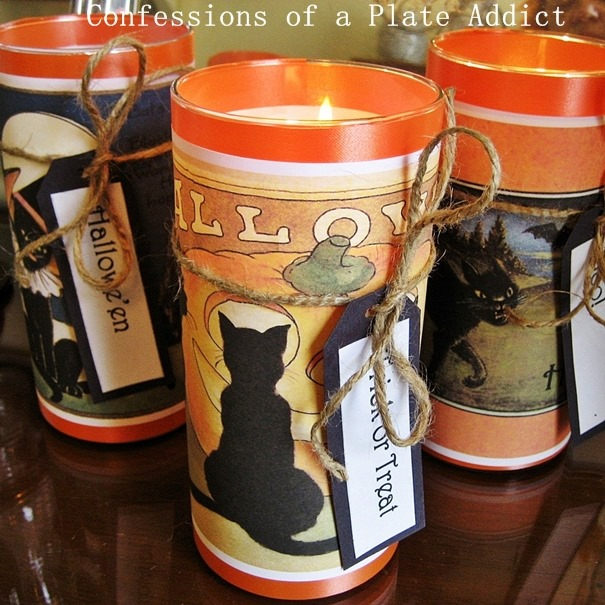 CONFESSIONS OF A PLATE ADDICT Easy Halloween Candles