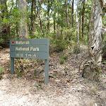 Wallarah National Park sign on the coastal track (388511)